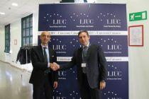 Bianconi col prof. Dallari della LIUC
